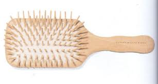 Wooden paddle hairbrush