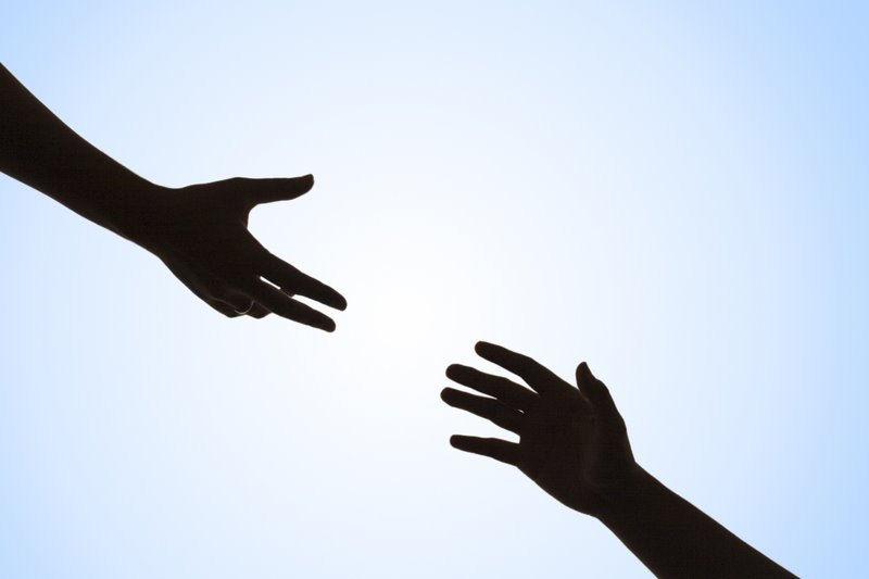 helping hand hands